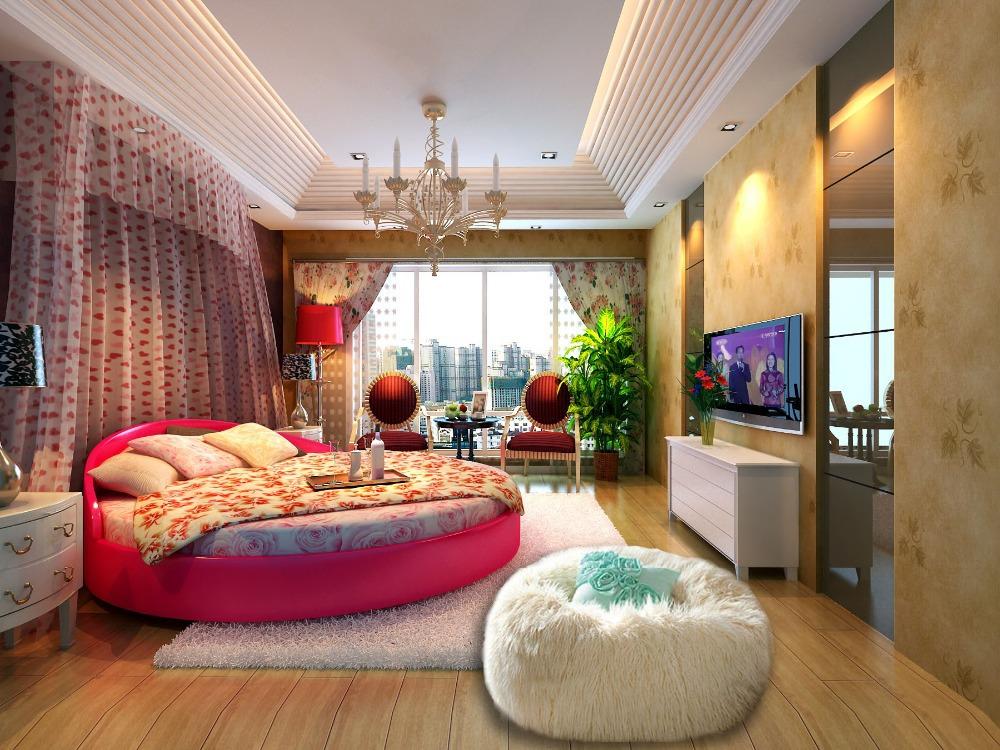 Free Shipping 120cm Diameter Sofa Set Living Room Furniture Bean Bag Faux Fur