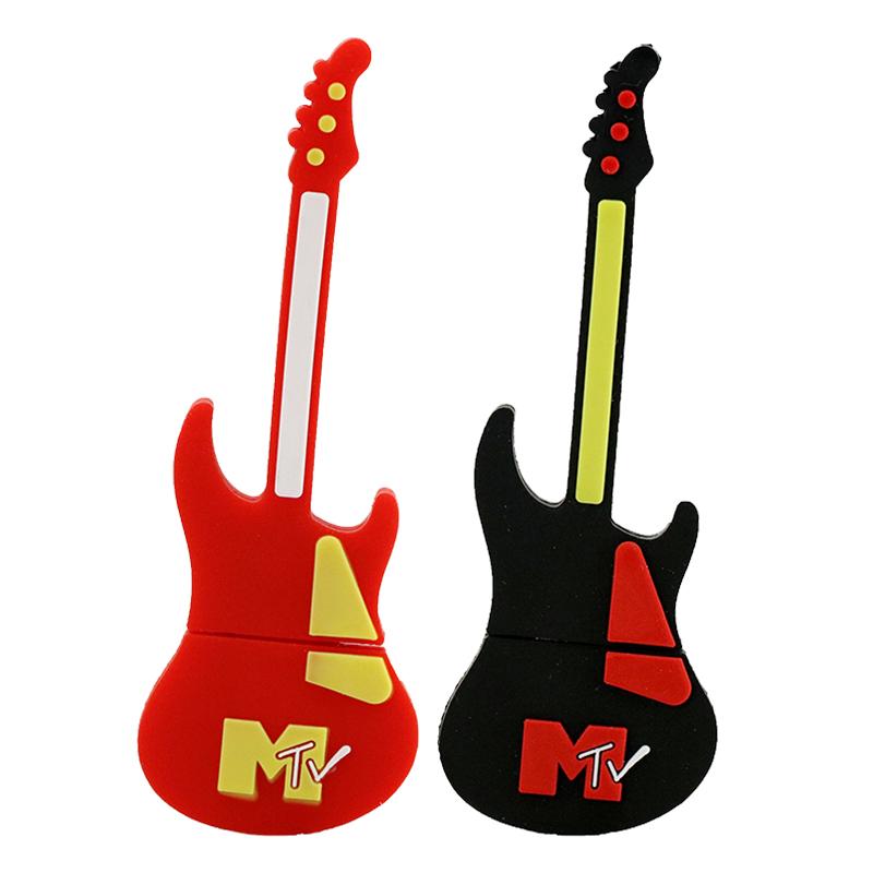 Fashion U disk pendrive cartoon musical TV guitar pendriver pen drive 8GB 16GB 32GB 64GB usb flash drive(China (Mainland))