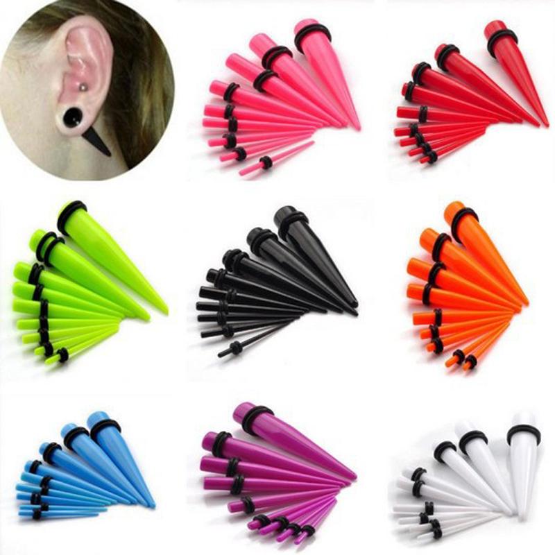 9 Colors 1 1.6-10MM Mix Bulk Tapers Stretcher Ear Expander Kit Plug Tunnel Body Piercing Unisex - Li juan Jewelry---((No Minimium store)
