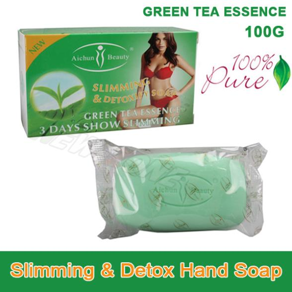 Green Tea Essence Lose Weight Loss Slimming & Detox Body Soap Fat Burn Effective slim cream best partner 100g