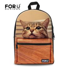 Fashion Children School bags Cute 3D Animal Cat Schoolbag for Girls Casual Kids Women Shoulder School Book bag Mochila Escolar(China (Mainland))