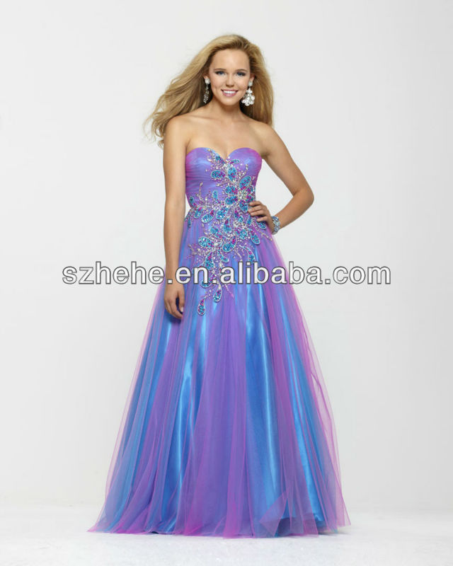 Two-Tone Purple Prom Dresses 42