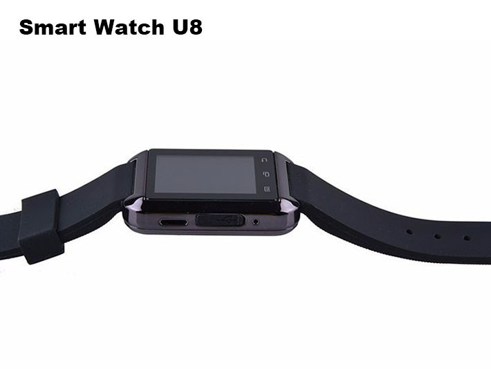 Bluetooth Smart U80 Watch BT-notification Anti-Lost MTK WristWatch for iPhone 44S55S Samsung S4Note 2Note 3 Android Phone