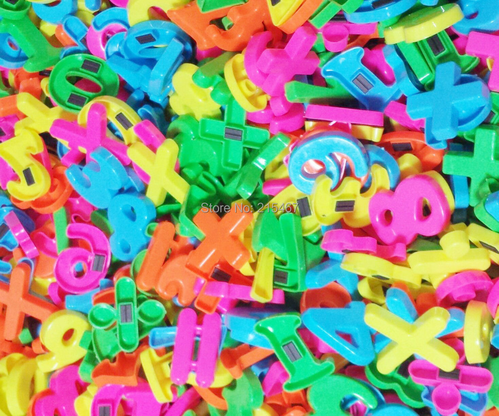 """HUGE LOT OF Magnetic Numbers Punctuation 300 piece wholesales lot preschool toys - 1.5"""" ~NEW~ EDUCATIONAL TOY PRE SCHOOL(Hong Kong)"""