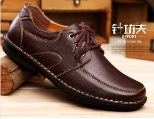 3Color Hot Selling 2015 Hand Sewed Men 100%Genuine Leather Business Shoes Euro Style Man Casual Flats - China GaGa Fancygoods Mall store