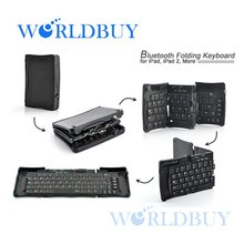 High Quality Bluetooth Folding Keyboard for iPad iPad 2 iPhone Android Smartphones Free Shipping UPS DHL HKPAM CPAM