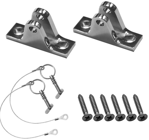 MARINE BOAT BIMINI TOP FITTING DECK HINGE STAINLESS STEEL WITH PIN SLOPING sloping with bolt(China (Mainland))