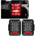 2x Integrated LED Tail Lights Car Running Brake Turn Signal Reverse Backup Light Lamp 12V For