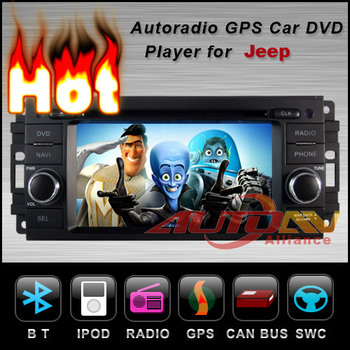 2 din Car DVD Player with GPS Navigation Stereo For Jeep Patriot Wrangler Radio TV 6021