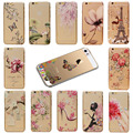 Colorful Flower Girls Pattern Transparent Cartoon Skin Back Hard Case Cover Protector For Apple iPhone 5C