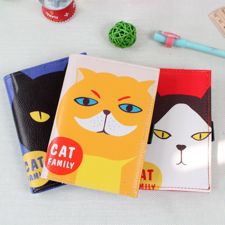 kawaii creative stationery cute cat notebook portable mini A6 notebook leather cover diary free shipping 1417<br><br>Aliexpress