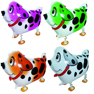 10pcs/Lot, Free Shipping, Dalmatian Pet Walking Animals Balloons Helium Mylar Balloons, Baby's toy, Party Decoration. Gift.(China (Mainland))