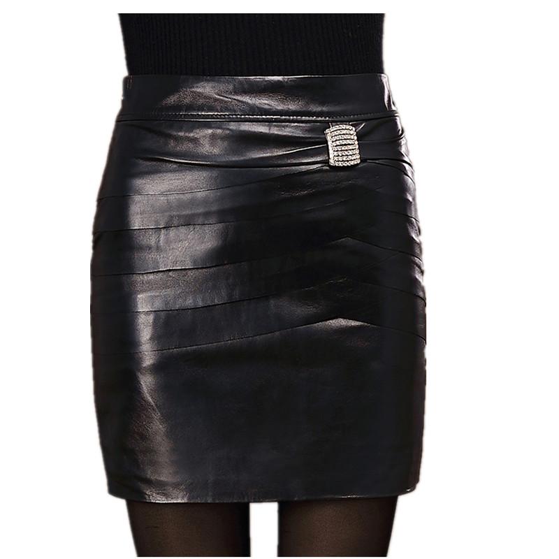 Womens Genuine Leather Skirt Female Sheepskin Bust Skirt Hip Slim Fish Scale Step Skirt Short SkirtОдежда и ак�е��уары<br><br><br>Aliexpress