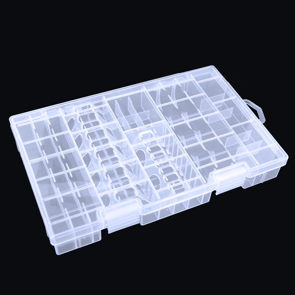 image for 1 Pcs Transparent Useful Battery Box For AAA/AA/C/D/9V Battery Storage