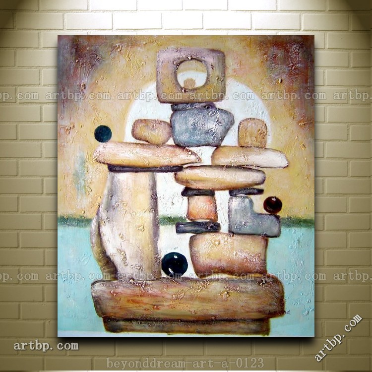 Object structure oil painting abstract modern nonobjective for Modern home decor objects