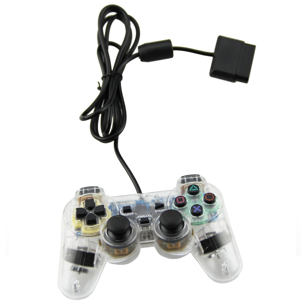 TPFOON Wired PS2 Controller Double Vibration Joystick Gamepad For Playstation 2 PS2(China (Mainland))