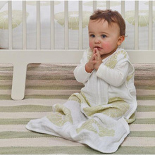 Aden Anais Baby Sleeping Bag Sleeveless100% Muslin Cotton Vest Sleepsacks Spring Summer Autumn 83cm Length for 12-18 Months Baby