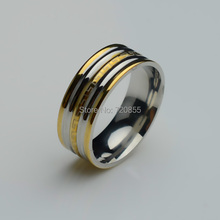 Multi-tone Gold & Silver Beautiful Rings Men Stainless steel,Fashion Ring Women,U.S Size:7,8,9,10,11 New arrival good Gift Item(China (Mainland))