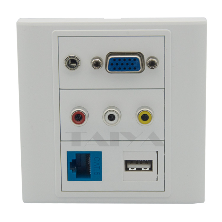 how to connect rca rj45 wall connector