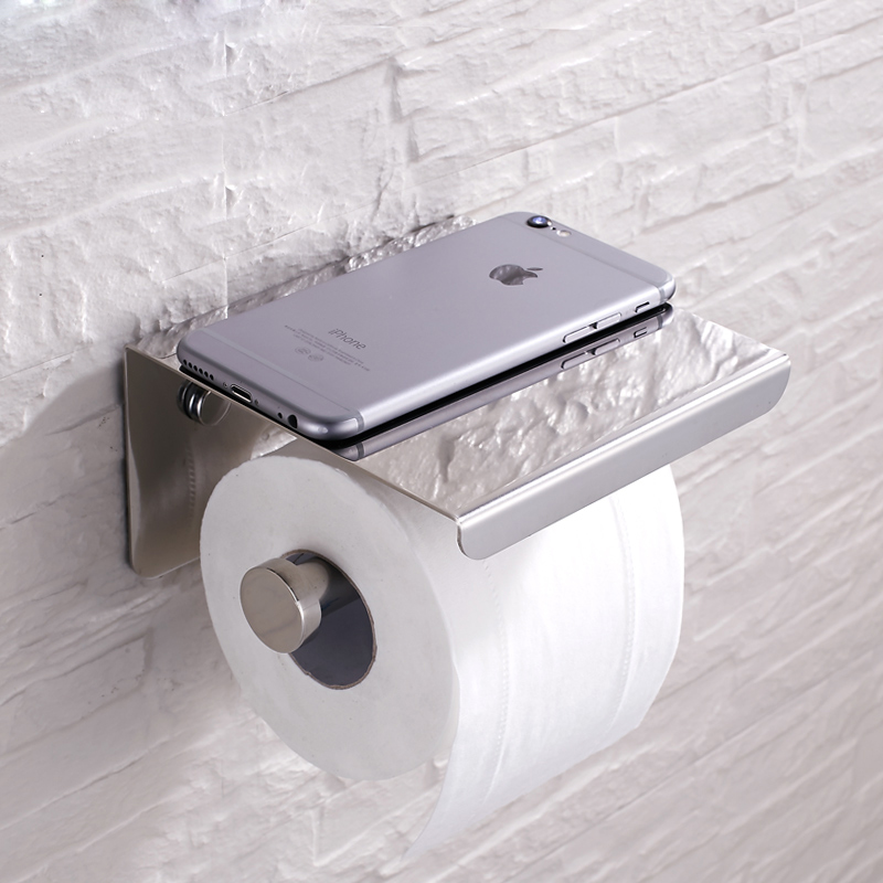 Wholesale and retail free shipping brushed nickel bathroom - Brushed nickel freestanding toilet paper holder ...