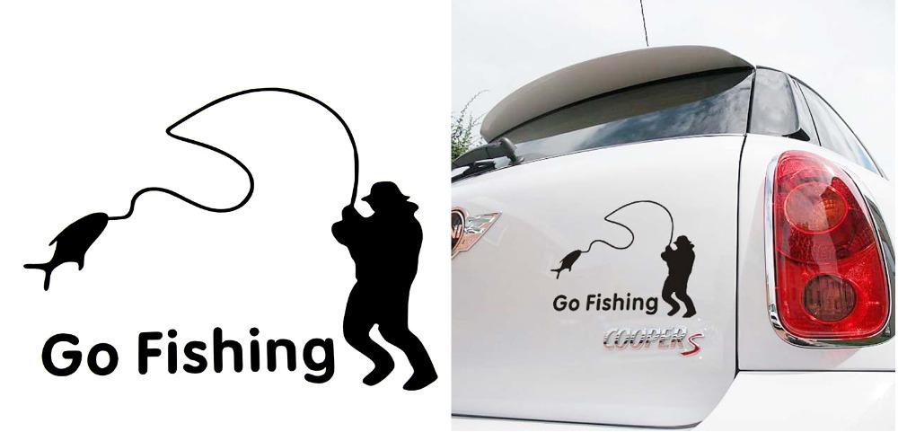 купить наклейка на авто рыбака