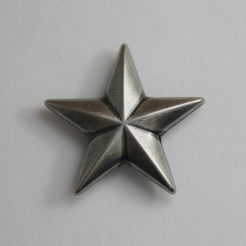 Wholesale ! 50pc 1''(2.6cm) Metal Concho Western Star Concho Leathercraft Antique-silver(China (Mainland))