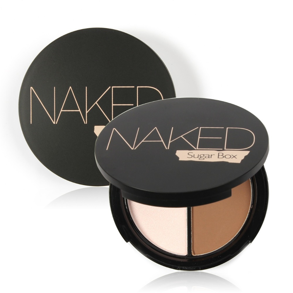 Professional Brand Makeup Two-Color Bronzer &amp; Highlighter Powder Trimming Powder Make Up Cosmetic Face Concealer by Sugar Box<br><br>Aliexpress