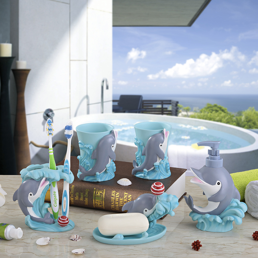 Dolphin bathroom accessories 28 images bathroom set of for Bathroom accessories online cheap