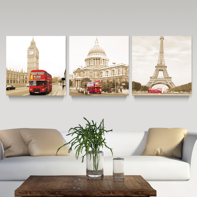 Buy 3 panel modern printed london for Home decorations london