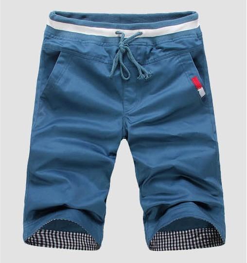 M-XXXL 4XL 5XL 6XL fashion cotton trousers 8 colors solid beach shorts men's sport new 2014 summer casual man - Lance David's Professional Men Apparel & Accessories store