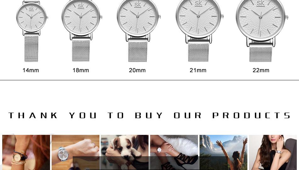 Shengke New Fashion Brand Women Causal Wrist Watches Mesh Belt Mix Match Luxury Female Dress Quartz Clock Ladies Wristwatch 2017