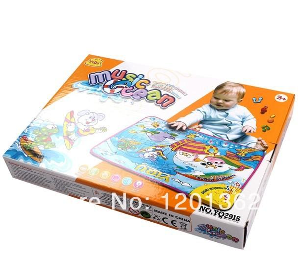 Wholesale Music Ocean Carpet Baby Crawl Play Mat Learning Blanket Kids Children Developmental Toy Touch Kick & Play Fun(China (Mainland))