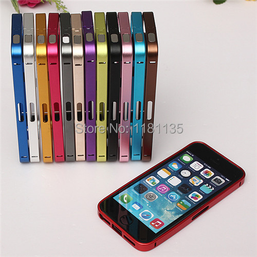 Slim Aluminum Frame Buckle Bumper Metal Ultra Skin For Apple For iPhone 4 4S Wallet Pouch Bag Protector Case Cover(China (Mainland))