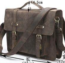 JMD Crazy horse leather men messenger bags men's Briefcase vintage business men travel bags business tote laptop 205 new man bag(China (Mainland))