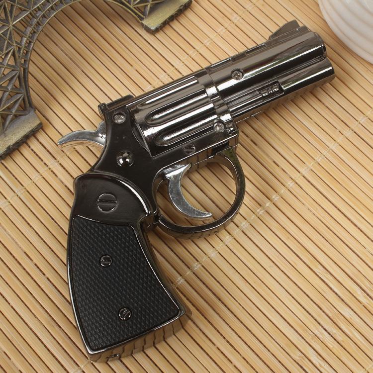 Creative model revolver metal lighters multi-purpose windproof gas lighter gift cigar factory 50 - December STORM store