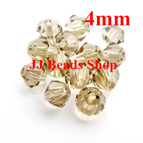 Free Shipping! 1440pcs/Lot Chinese AAA Top Quality 4mm Crystal Stain/Gray Crystal Bicone Beads B040440(China (Mainland))
