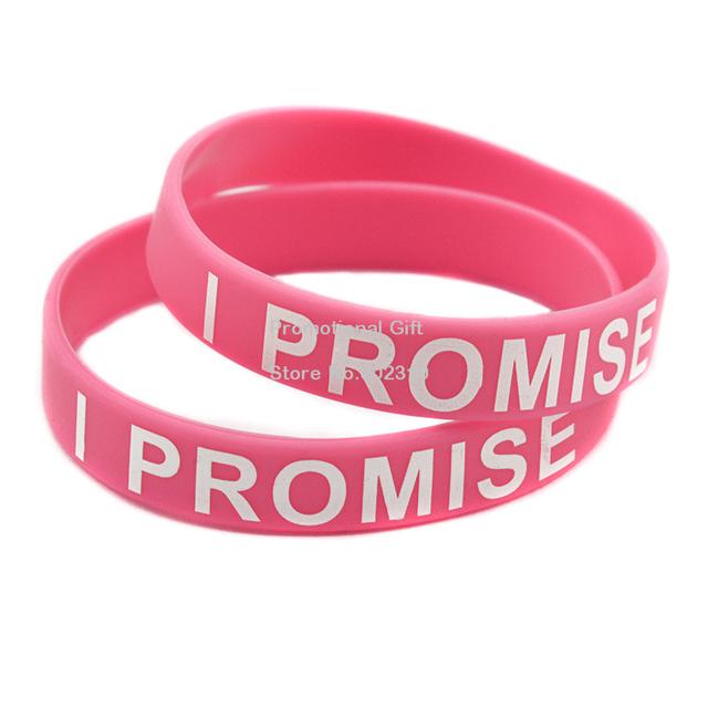 Wholesale 100PCS/Lot I PROMISE Silicon Bracelet, Promotion Gift, Printed Colour, Custom Design Wristband
