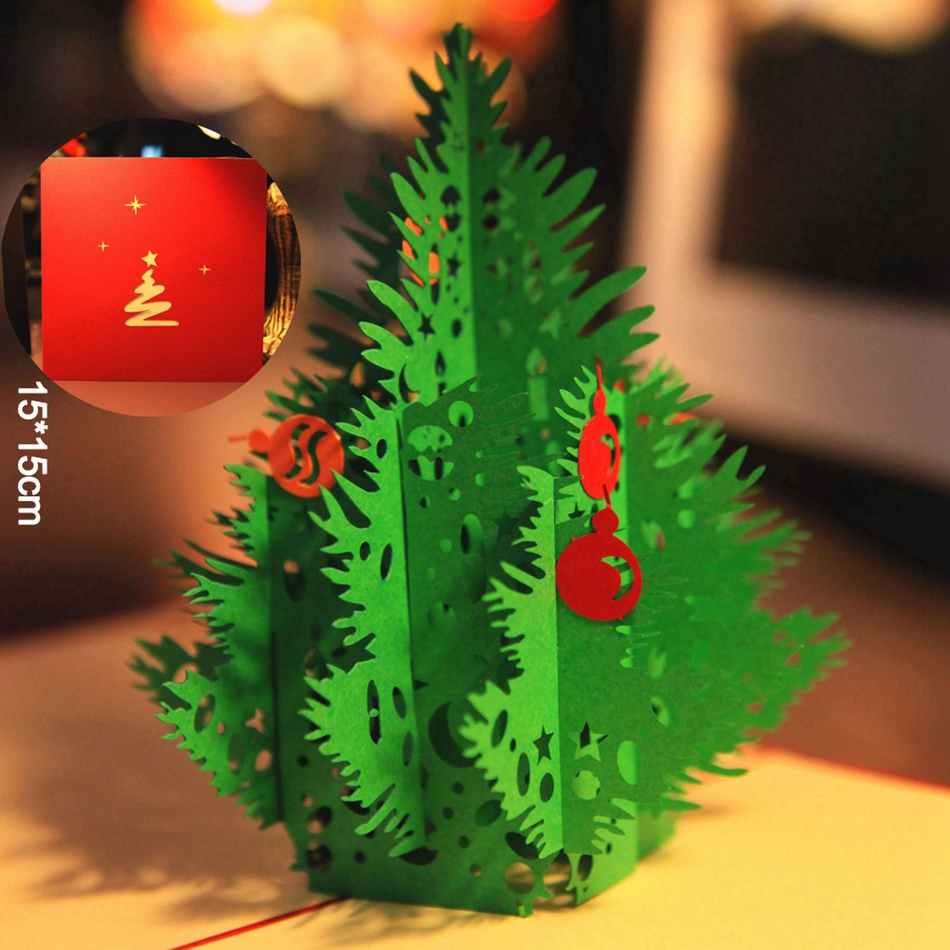 Buy 10pcs red 3d merry christmas tree 3d for Where can i buy a red christmas tree