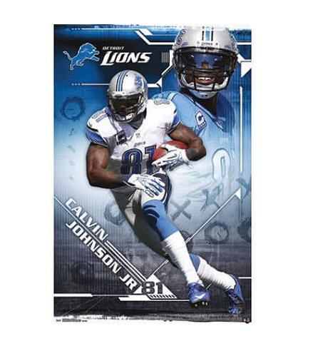 Calvin Johnson Jr Detroit Lions Custom Poster Style Home
