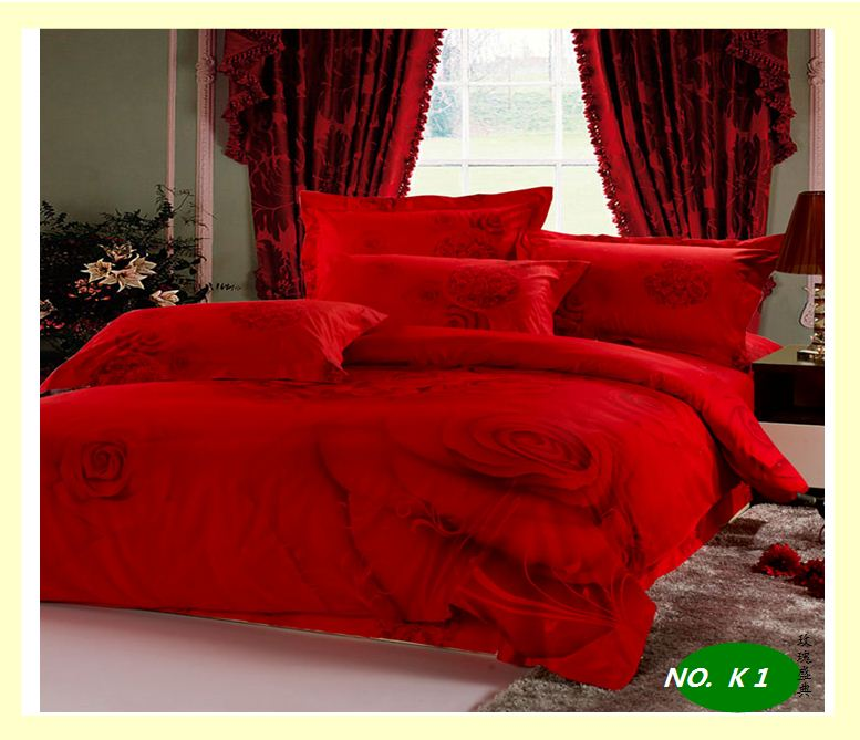 Red Rose Sexy Comforter Reactive Dyed 100 Cotton Bedding