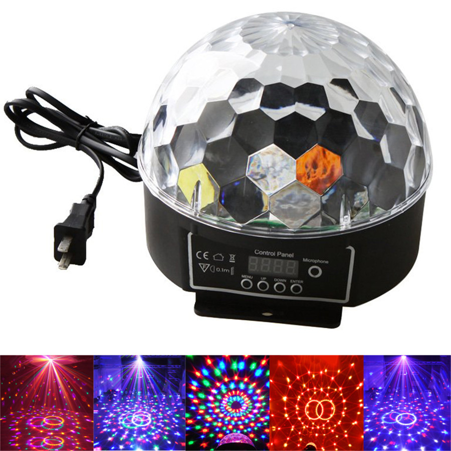 LED Stage Lamps 20W DMX512 Disco Stage Lighting Digital LED RGB Crystal Magic Ball Effect Light(China (Mainland))
