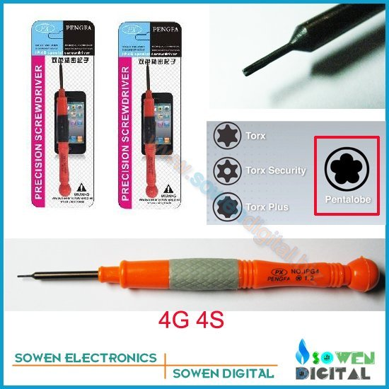 precision Screwdriver for iphone 4 4g 4S open tools 5-Point Star pentalobe Bottom precision screw driver Free shipping