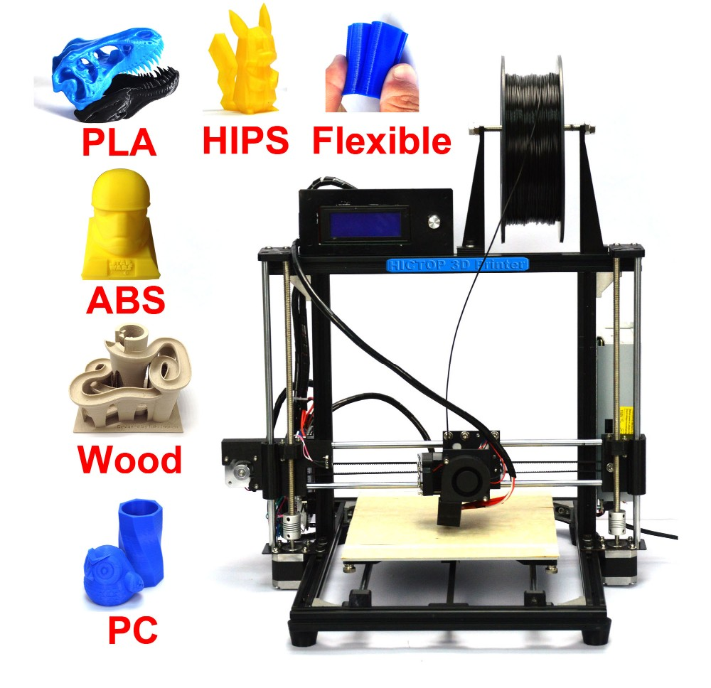 Large Print Size Bed Auto Leveling Prusa i3 DIY 3d Printer kit with 50g filament SD
