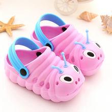אופנה ילדי קטרפילר גן נעלי בית ילד בני בנות להחליק Lighe משקל חוף חור סנדלי תינוק ממתקי בית חיצוני נעליים(China)