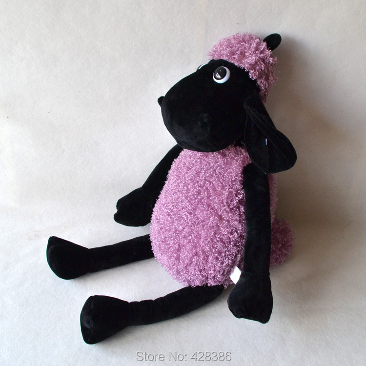 27.5 inches purple sheep plush baby toy stuffed doll classic toys children gift - Truman Hua's store