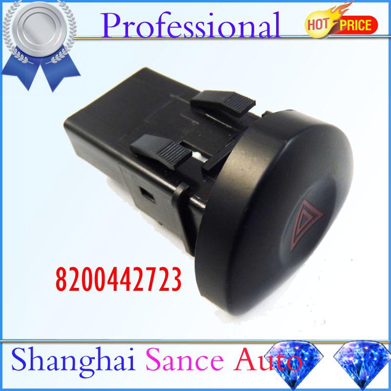 Emergency Hazard Flasher Warning Light Switch 8200442723 Renault Clio II Mk 2 1998 1999 2000 2001 2002 2003 2004 2005 2006 - Shanghai Sance Auto Part Co., Ltd. store