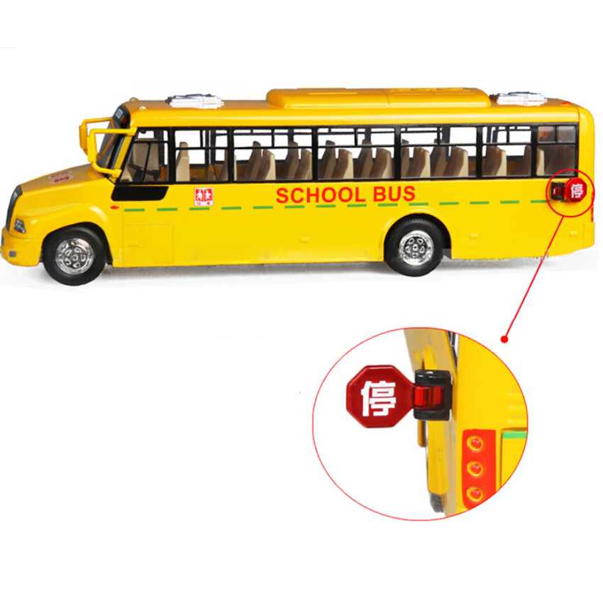 Free Shipping 2015 New Style School Bus Model Toys for Boy Children, Alloy Material Miniature Bus Children's Educational Toys(China (Mainland))