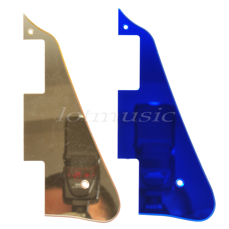 New Electric Guitar Pickguard For Gibson LP Guitar replacement Gold&Blue Mirror(China (Mainland))