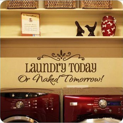 DIY Removable Laundry Room Quote Decal Art Vinyl Wall Sticker Lettering(China (Mainland))