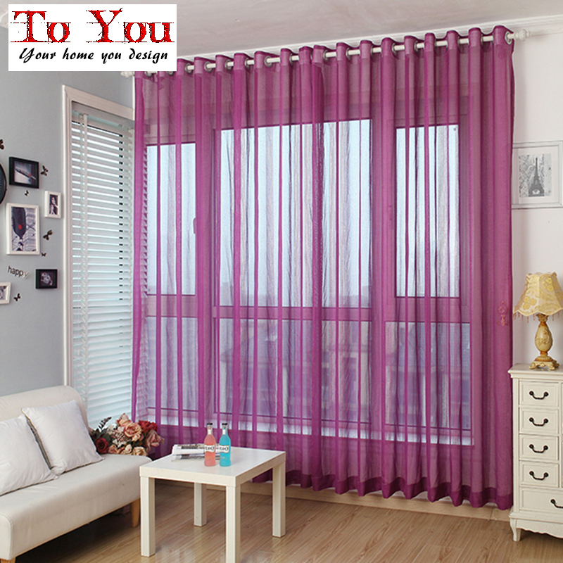 New arrive cheap window sheers ready made 5 colors tulle - Cortinas y visillos baratos ...